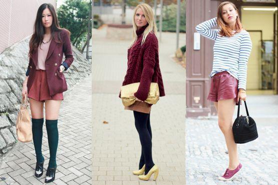 k Burgundy é a cor do inverno 2012