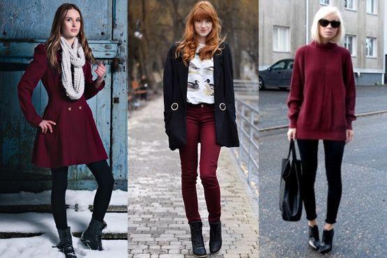 m Burgundy é a cor do inverno 2012