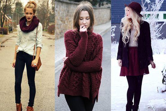 n Burgundy é a cor do inverno 2012