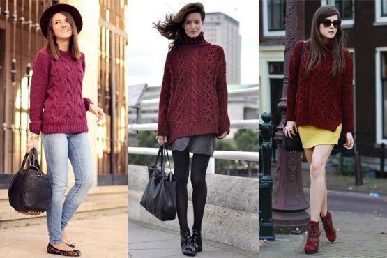 p Burgundy é a cor do inverno 2012