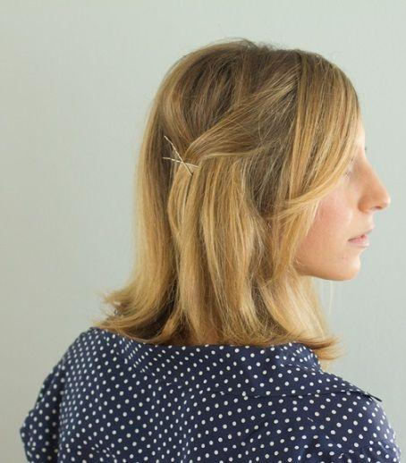 "Foto: Reprodução / <a href=""http://theeverygirl.com/feature/10-quick-ways-to-style-long-and-short-hair"" target=""_blank"">The Everygirl</a>"