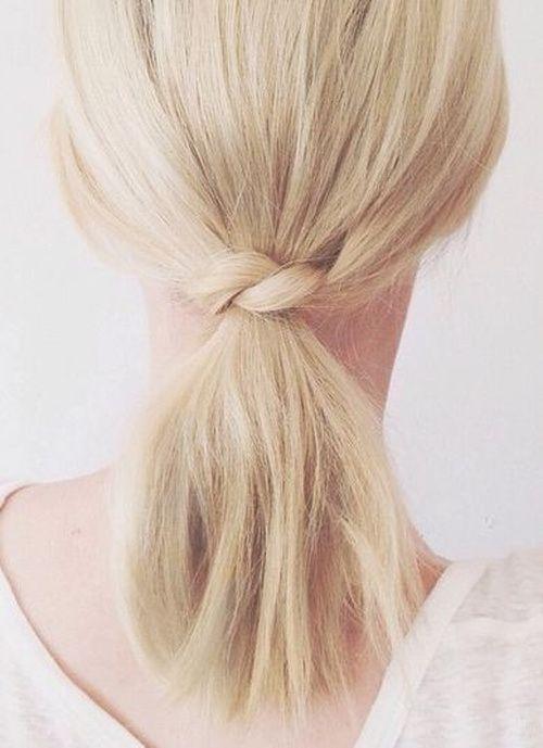 "Foto: Reprodução / <a href=""http://thebeautydepartment.com/2014/08/short-hair-ponytail-idea/"" target=""_blank"">The Beauty Department</a>"