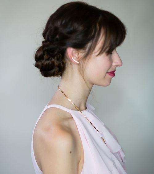 "Foto: Reprodução / <a href=""http://www.mlovesmblog.com/2015/02/romantic-braided-updo-hair-tutorial"" target=""_blank"">M Loves M</a>"