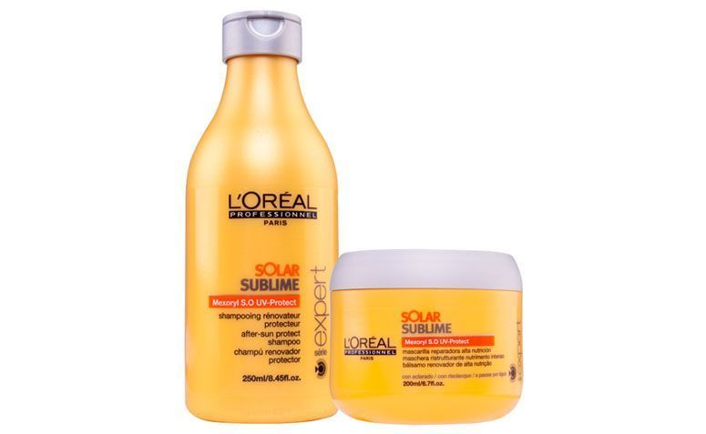"""Loreal Profissional Solar Sublime Kit Duo por R$154,65 na <a href=""""http://www.docebeleza.com.br/loreal-profissional/loreal-profissional-solar-sublime/loreal-profissional-solar-sublime-kit-duo/p12097-d1320/"""" target=""""blank_"""">Doce Beleza</a>"""