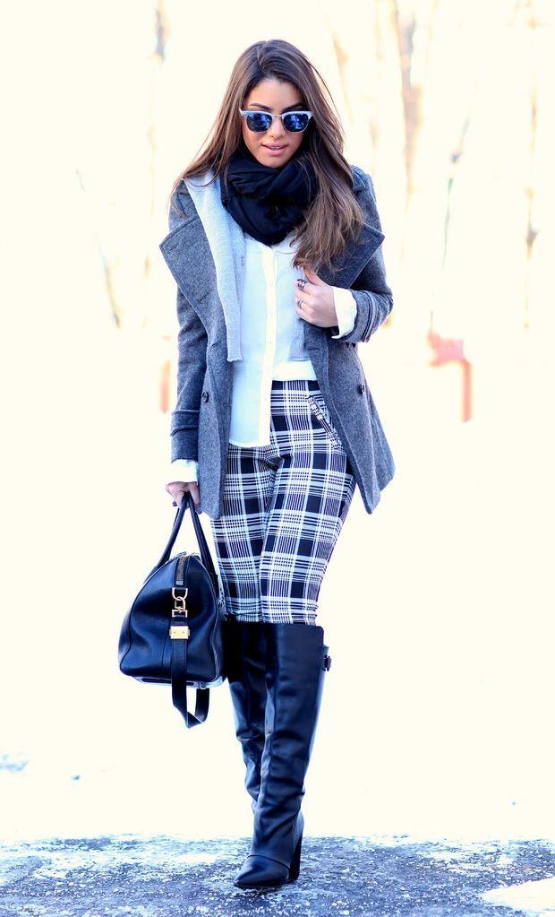 """Foto: Reprodução / <a href=""""http://camilacoelho.com/2014/01/05/look-do-dia-plaid-pants/"""" target=""""_blank"""">Camila Coelho</a>"""