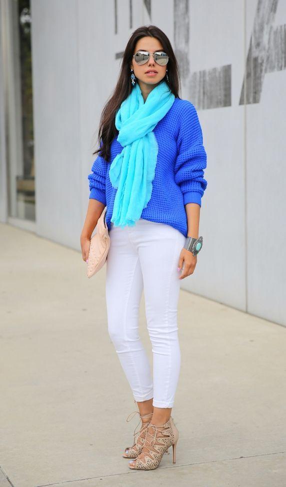 "Foto: Reprodução / <a href=""http://vivaluxury.blogspot.com.br/2013/04/feeling-blue-win-donni-charm-scarf.html"" target=""_blank"">Viva Luxury</a>"
