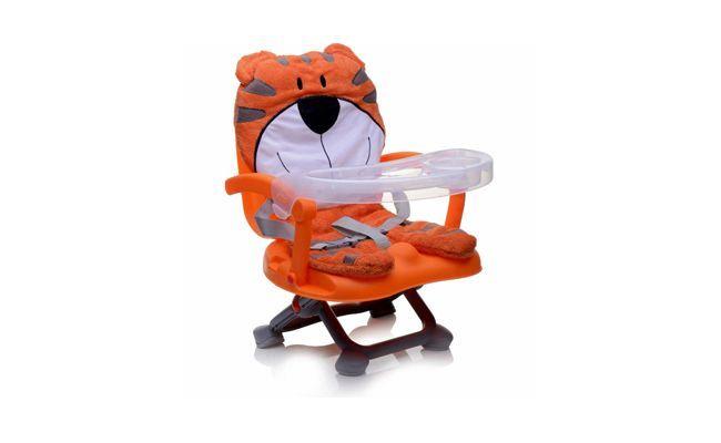 """Cadeira de Alimentação Portátil Bichinho Tigre por R$159,00 na loja <a href=""""http://www.bebestore.com.br/bebestore/produto/CADEIRA-DE-ALIMENTACAO-PORTATIL-BICHINHO-TIGRE-DICAN/27712?gclid=CO3W6fz--7sCFaHm7AodzzwAeQ"""" target=""""_blank"""">Bebê Store</a>"""