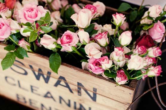 Floreiras  com caixotes
