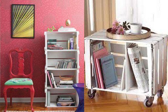 Ideias para guardar livros em caixotes