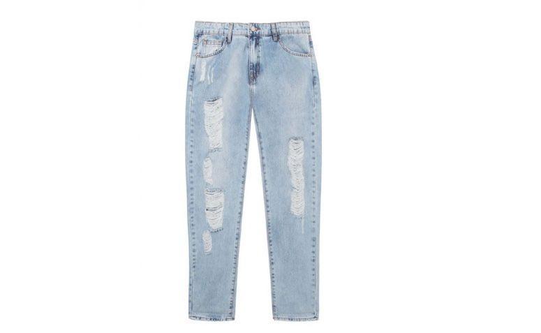 "Calça jeans boyfriend por R$298,00 na <a href=""https://www.oqvestir.com.br/calca-jeans-boyfriend-destroyed-clara.html "" target=""blank_"">Oqvestir</a>"