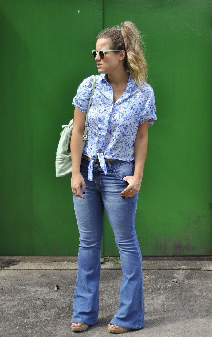 """Foto: Reprodução / <a href=""""http://www.sherons.com.br/dia-camisa-flare-jeans"""" target=""""_blank"""">Sherons</a>"""