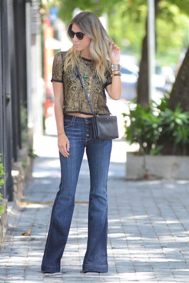 "Foto: Reprodução / <a href=""http://www.glam4you.com/meu-look-flare-jeans-cropped/"" target=""_blank"">Glam4you</a>"
