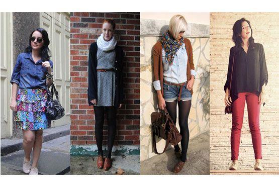 O oxford é uma ótima opção para quem quer deixar o look mais moderninho. Invista em meias, deixando a produção ainda mais estilosa.