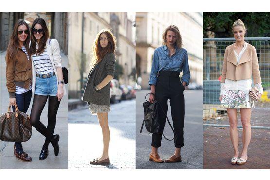 O mocassim quando coordenado à jeans e peças mais despojadas garante um visual clássico sem muita sobriedade.