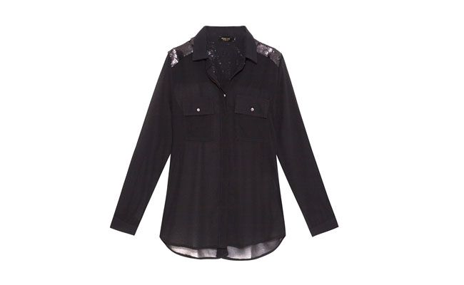 Bluzka z cekinami daszkiem dla R $ 175,05 w OQVestir