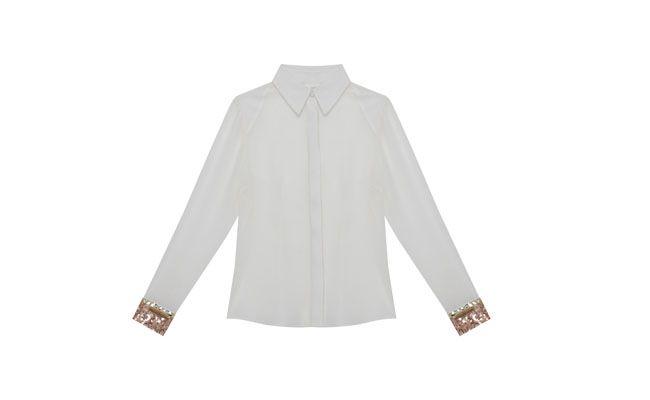 """Camisa punhos de paetês PatBo para C&A por R$129,00 na <a href=""""http://www.cea.com.br/moda-feminina/camisa-14578/"""" target=""""_blank""""> C&A</a>"""