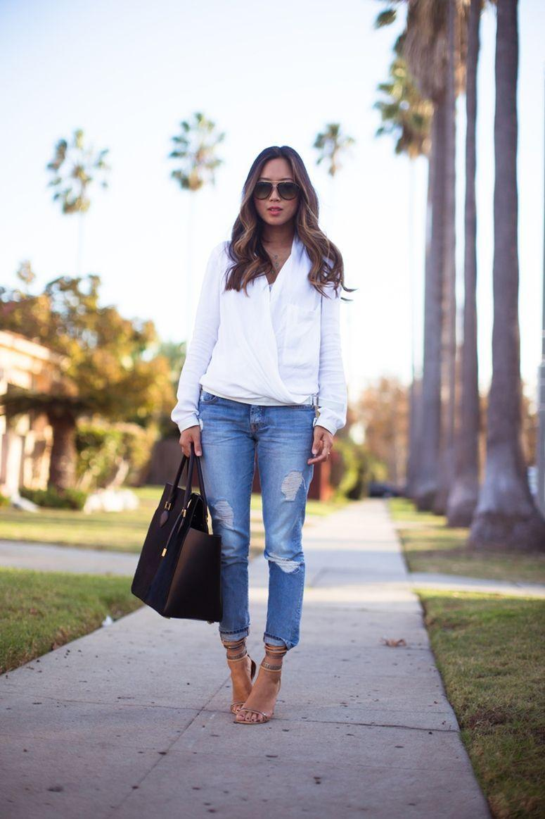 """Foto: Reprodução / <a href=""""http://www.songofstyle.com/2013/11/white-shirt-blue-jeans.html"""" target=""""_blank"""">Song of Style</a>"""