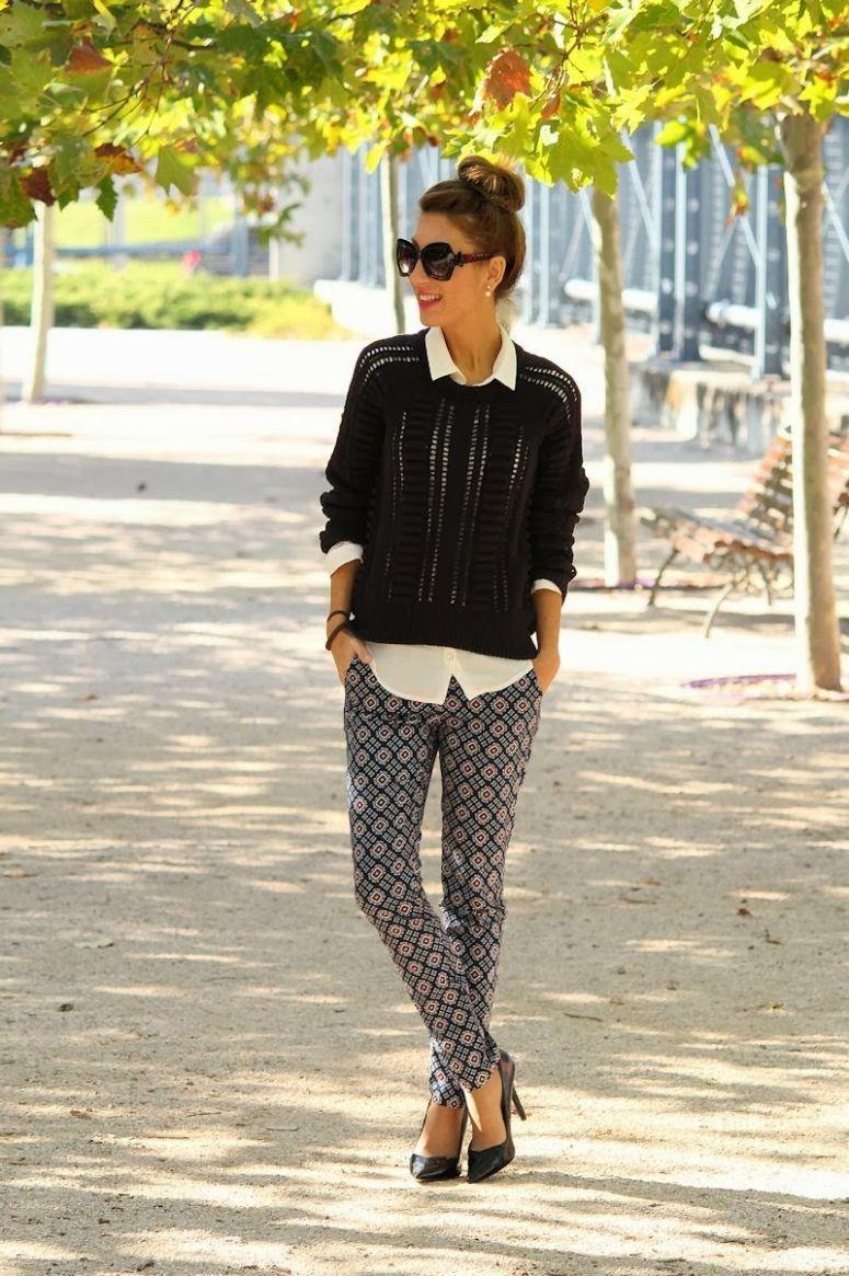"Foto: Reprodução / <a href=""http://lolamansil.blogspot.fr/2013/11/pantalon-estampado.html"" target=""_blank"">Lola Mansíl Fashion Diary</a>"