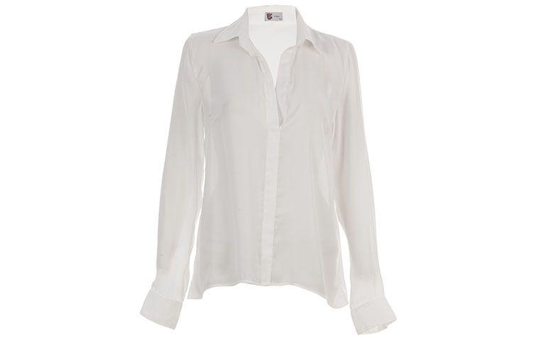 """Camisa branca Pop Up Store por R$228 na <a href=""""http://www.e-closet.com.br/camisa/camisa-b-sica-off-white-pop-up-store-12314.html"""" target=""""blank_"""">E-Closet</a>"""