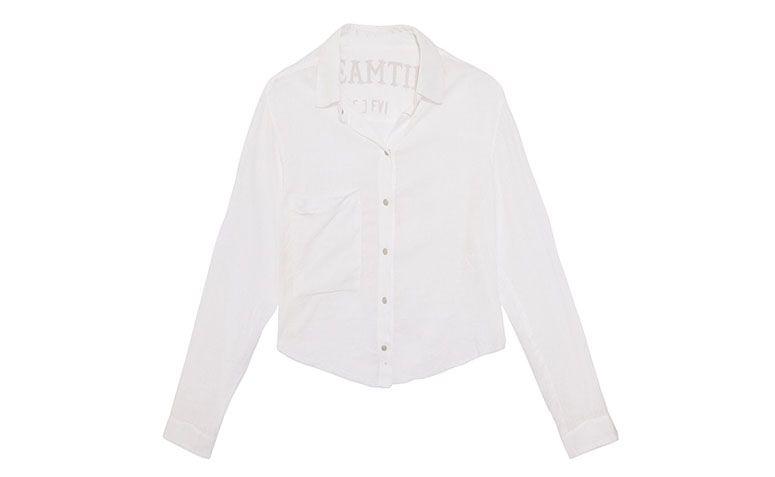 "Camisa branca Fyi por R$248 na <a href=""http://www.oqvestir.com.br/camisa-cropped-fyi---off-white-53702.aspx/p"" target=""blank_"">Oqvestir</a>"