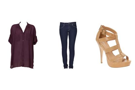 Este é um bom exemplo de como montar um look mais despojado e informal com uma camisa oversize e calça jeans.