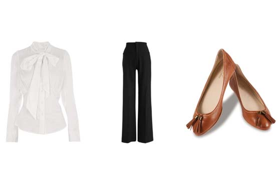 A pantalona pode ser uma grande aliada nos looks mais sérios e discretos com camisete.