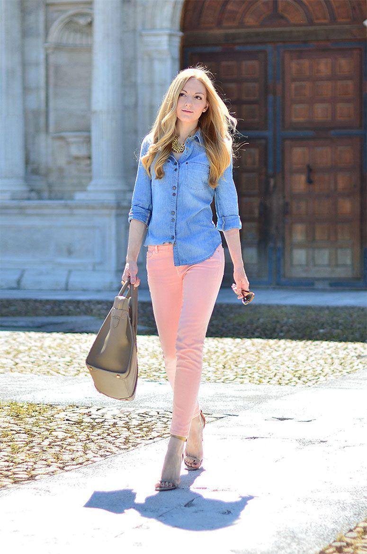 "Foto: Reprodução / <a href=""http://www.ohmyvogue.com/2013/05/pastel-jeans.html"" target=""_blank"">Oh My Vogue</a>"