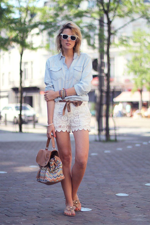 "Foto: Reprodução / <a href=""http://www.fashionata.com/my-outfit/my-outfit-lace-shorts"" target=""_blank"">Fashionata</a>"