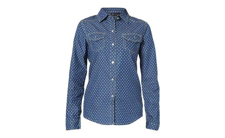 "Camisa jeans estampada por R$89,90 na <a href=""http://www.kanui.com.br/camisa-kanui-clothing--co-jeans-estrelas-210030.html"" target=""blank_"">Kanui</a>"