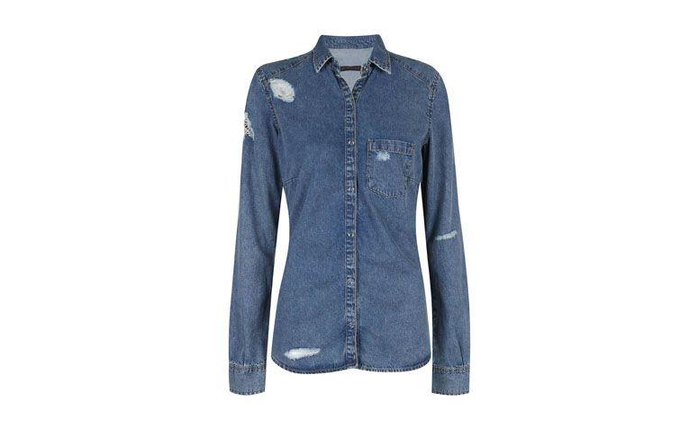 """Camisa jeans destroyed por R$89,90 na <a href=""""http://www.riachuelo.com.br/produto/dia-das-maes/pool/feminino/camisas/camisa-jeans/5503"""" target=""""blank_"""">Riachuelo</a>"""