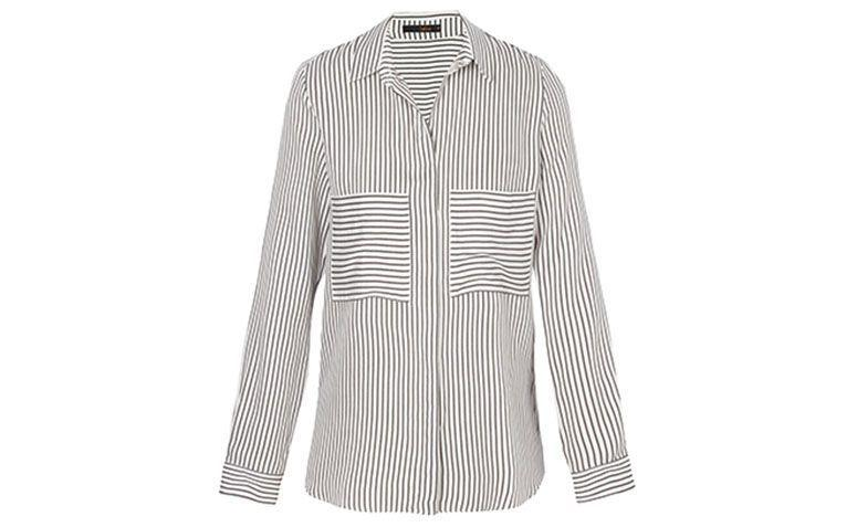 black and white striped shirt by Leeloo R $ 498 in OQVestir