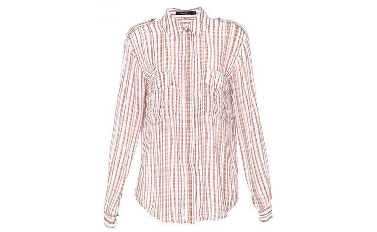 brown striped shirt and white for $ 139.90 in Amaro