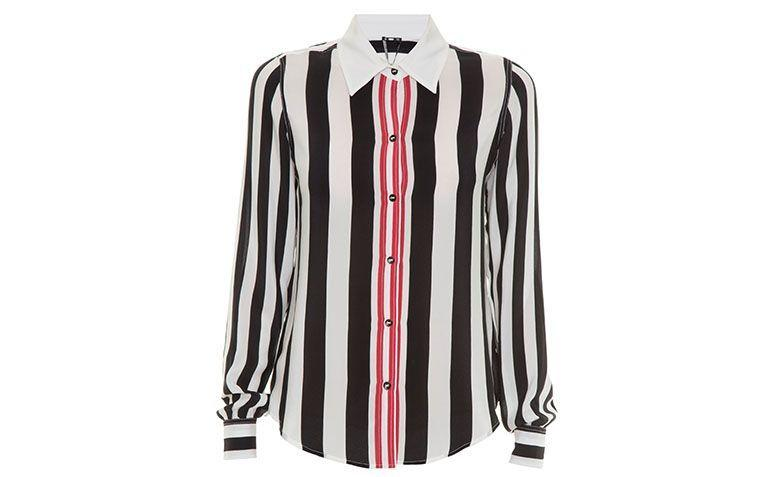 black, white and red striped shirt Zibba by R $ 860 in Gallerist