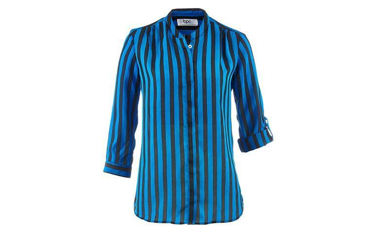 blue and black striped shirt for $ 99.90 at Bon Prix