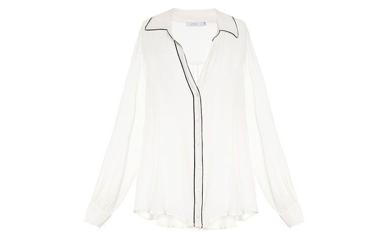 R에 의해 흰색 실크 셔츠 Ateen 갤러리스트에서 $ 299,50