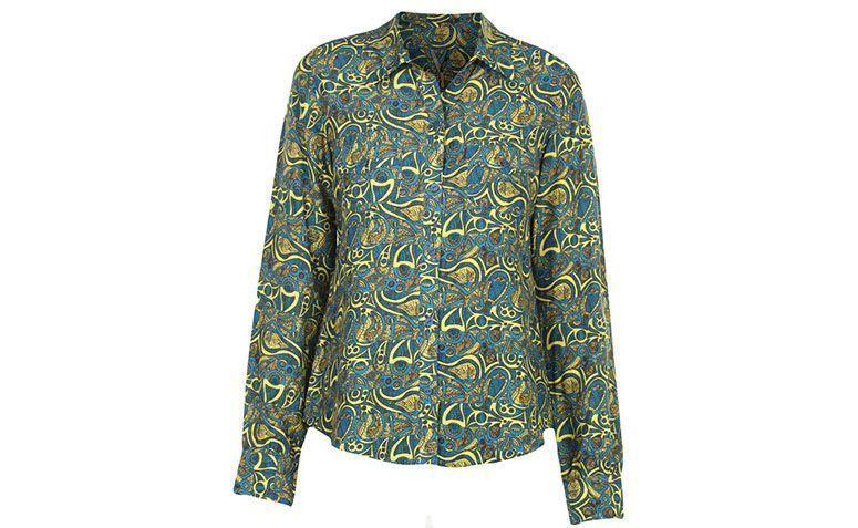 "Camisa de seda estampada Zibba por R$263,40 na <a href=""http://ad.zanox.com/ppc/?29469661C54125010&ULP=[[http://www.glamour.com.br/camisa-zibba-fernanada-est-luisa-azul--amarelo-192620/p?cmp=718&utm_campaign=home_hu&utm_source=zanox_zanox&utm_medium=zanox&utm_content=]]"" target=""blank_"">Glamour</a>"