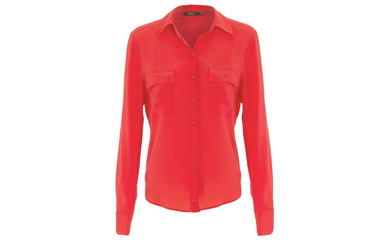 """Camisa de seda vermelha Zeit por R$247,20 na <a href=""""http://ad.zanox.com/ppc/?29470486C59080661&ULP=[[http://www.shop2gether.com.br/camisa-seda-bolsos-26.html?epar=af_as_00_za_zanox]]"""" target=""""blank_"""">Shop2gether</a>"""
