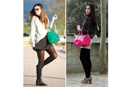 Exemplos de looks com candy bag