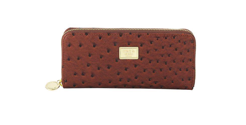 <p>Carteira de couro de avestruz – Marc B por £20 na Loja Top Shop.</p>