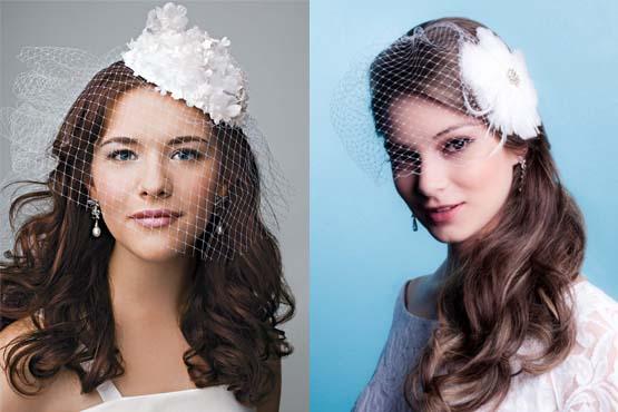A combinação de casquete com o véu vazado é ideal para noivas que querem opções diferentes, porém sem perder o romantismo