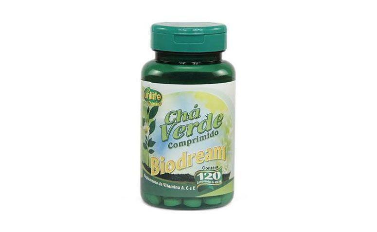 """Chá verde em cápsulas por R$19,40 na <a href=""""http://www.lojarelvaverde.com.br/cha_verde_unilife_120_comprimidos_400mg-p686"""" target=""""blank_"""">Loja Relva Verde</a>"""