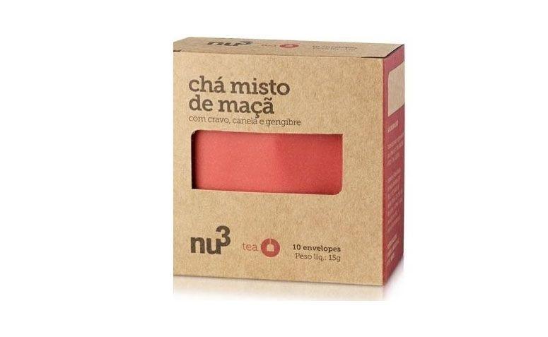 """Chá Maçã, Cravo, Canela e Gengibre por R$4,90 na <a href=""""http://www.natue.com.br/cha-maca-cravo-canela-e-gengibre-10-saches-nu3-naturals-69751.html?gclid=CPrcv7ms1cQCFVY8gQodmngAZA"""" target=""""blank_"""">Natue</a>"""