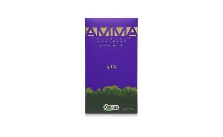 Chocolate organik 85% oleh Amma R $ 18,20 di natue