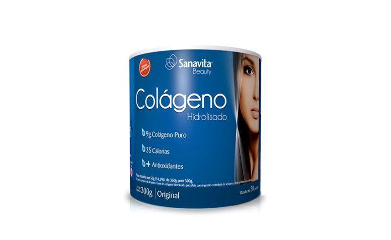 "Colágeno hidrolisado Sanavita por R$69,74 na <a href=""http://www.ultrafitness.com.br/colageno-hidrolisado-300g-sanavita-p350.html"" target=""blank_"">Ultrafitness</a>"