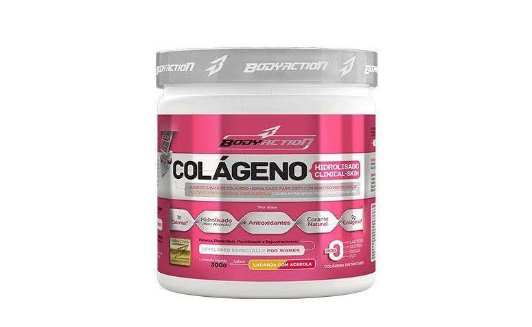 "Colágeno Hidrolisado Clinical Skin por R$53,55 na <a href=""http://www.otimanutri.com/colageno-hidrolisado-clinical-skin-300g-sabor-laranja-com-acerola-bodyaction_3555_produto.html"" target=""blank_"">Otima Nutri</a>"
