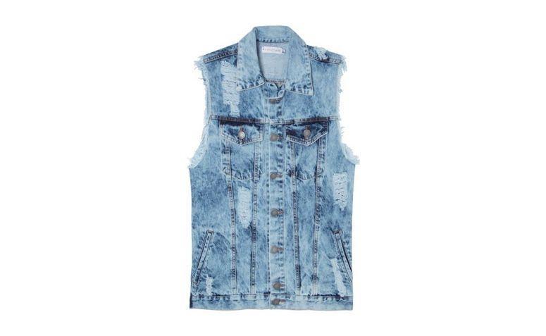 "Colete jeans por R$233,00 na <a href=""https://www.oqvestir.com.br/colete-jeans-oversized-marbled.html"" rel=""nofollow"" target=""blank_"">Oqvestir</a>"