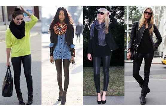 As wet leggings continuam em alta. Versáteis, podem ser aderidas para compor estilos diversos de looks.