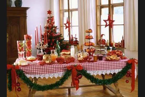 SemPre Bela Como decorar a mesa para o Natal -> Decoração Ceia De Natal Simples