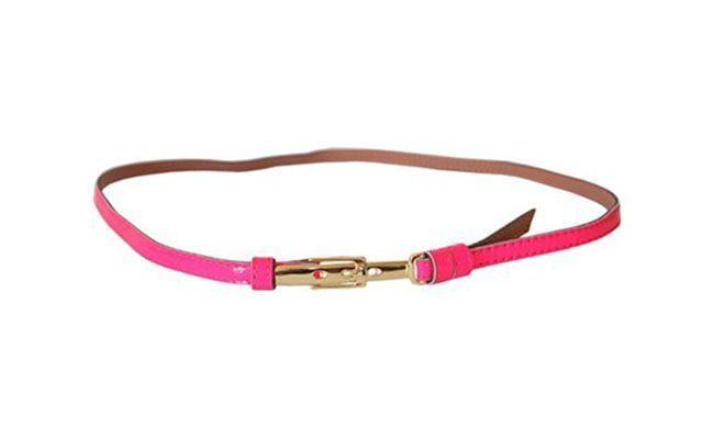 Tali pinggang merah jambu untuk $ 44,90 di Crazy untuk aksesori