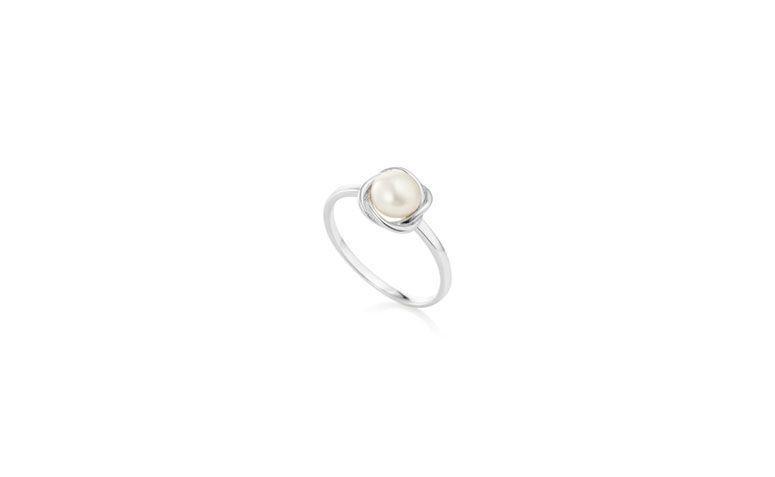 Silber Ring mit Perle von R4125 in Vivara